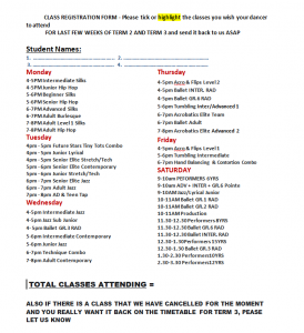 committment  class form